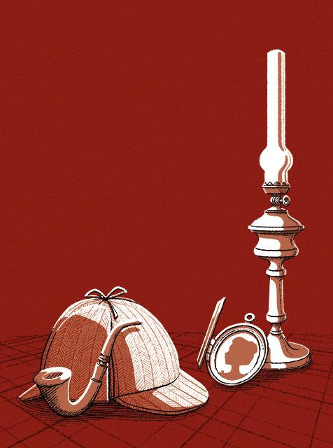 Illustration de Vlou pour la couverture du roman policier Retrouvailles à Strasbourg, de Roger Seiter